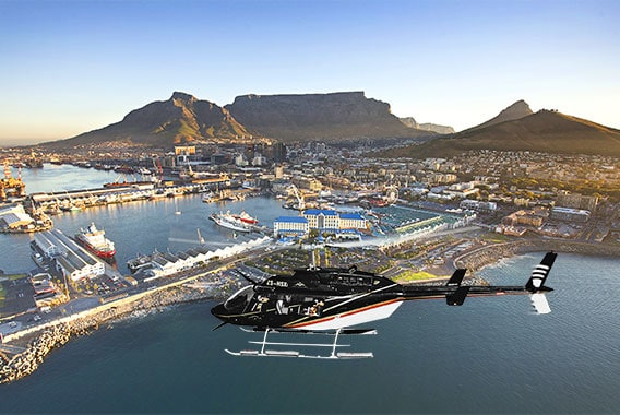 Table Mountain Cape Town Helicopter Hopper Tour Sport Helicopter Bell Longranger