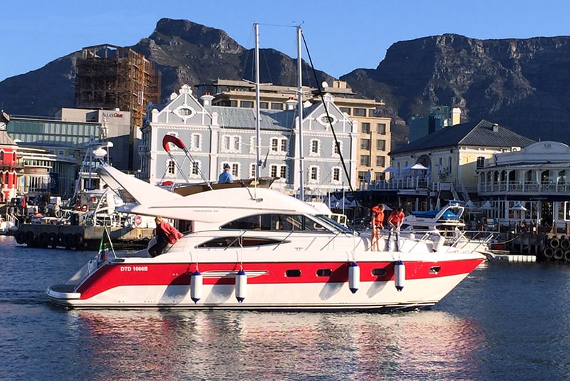 All day private boat yacht charter Cape Town