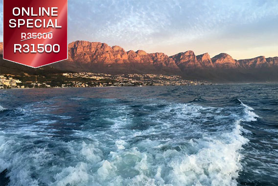 Sport motor yacht boat cruise trip luxury Cape Town