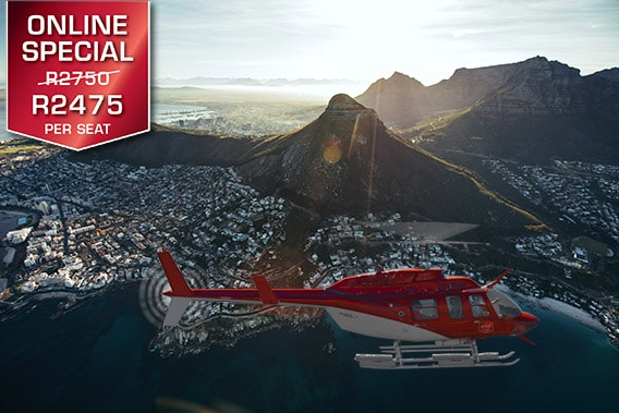 Cape Town Helicopter Tour Two Bays Combo Sport Helicopters V&A Waterfront Vip Private Luxury
