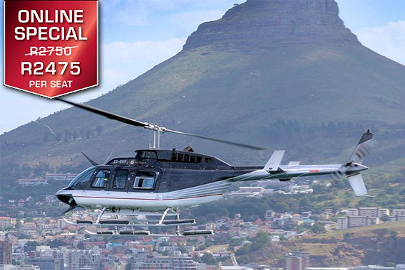 Cape Town Helicopter Tour Two Bays Combo