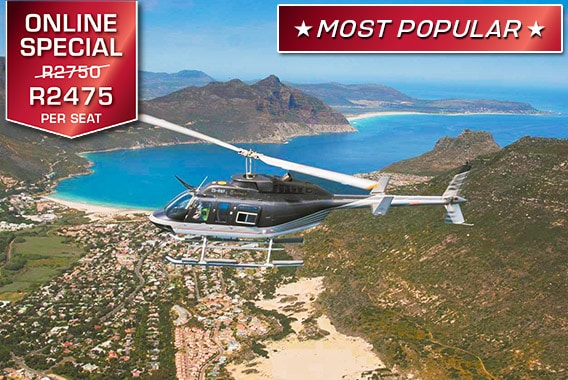 Cape Town Helicopter Tour Two Oceans Feature Combo Sport Helicopters V&A Waterfront Vip Luxury Flight