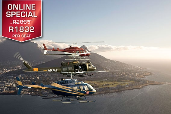 Table Mountain Sea Point Cape Town Helicopter Tour Camps Bay Sport Helicopters V&A Waterfront