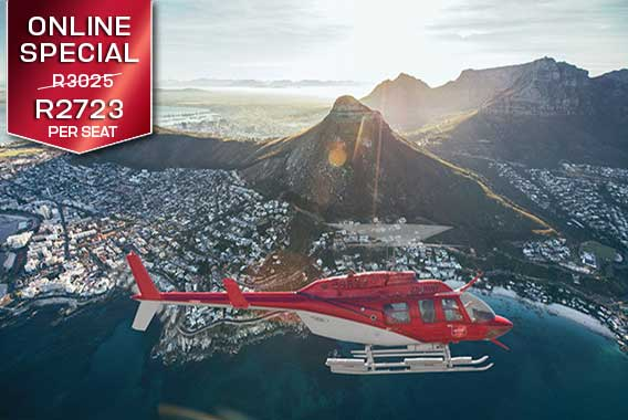 Table Mountain Lion's Head Cape Town Helicopter Tour Two Bays Combo Sport Helicopters V&A Waterfront Vip Private Luxury